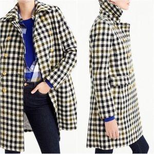 J. Crew Oxford Plaid Wool Coat